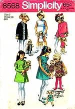 Simplicity 8568 Vintage Sewing Pattern Girls Dress Dolls Dress Size 7