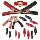CESFONJER 16 Piezas de Pinzas de Cocodrilo, Pinzas para Cables de Batería, Juego de Pinzas de Cocodrilo de Hardware a Granel para el Circuito de Pruebas Eléctricas