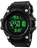 Big Dial Digital Watch S Shock Men Military Army Watch Water Resistant LED Sports Watches (Large, Black)
