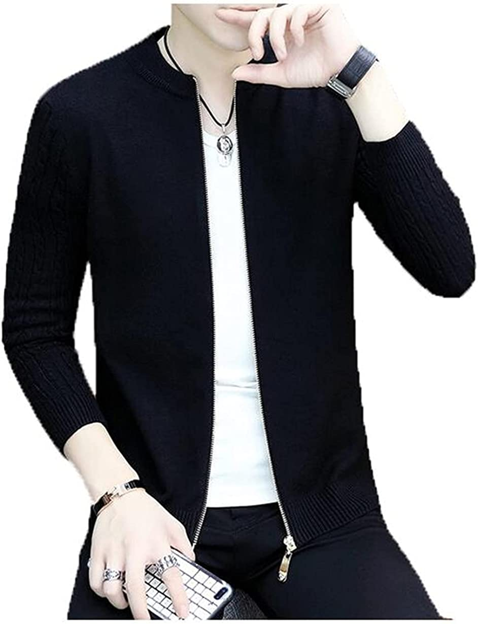 Knitted Cardigan Men's V-Neck Wear Lightweight Handsome Casual Sweater