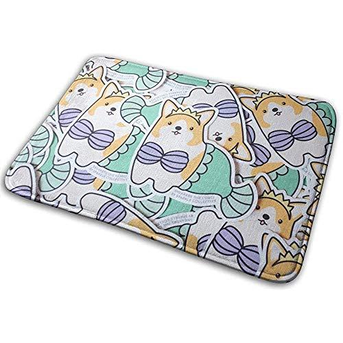 DaiMex Grappige Bikini Corgi Hond zeemeermin deurmat tapijt badkamer vloermatten Hall tapijten vloermatten