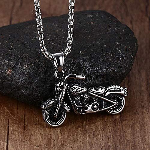 Collar Punk Hombre Vintage gótico Ghost Rider Colgante Acero Inoxidable Motocicleta Motor Bicicleta Colgante Collar
