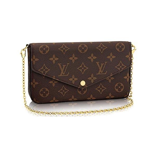 Fashion Shopping Louis Vuitton Monogram Canvas Pochette Felicie Wallets Handbag Clutch Article:M61276