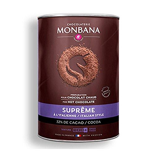 Monbana Suprême Chocolate Powder 32% cacao - italian style hot chocolate