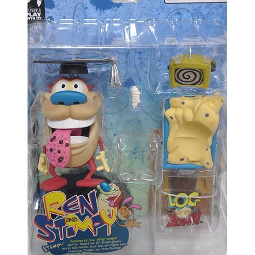 Ren and Stimpy Series 1 Sickly Tongue Stimpy Chase Figure Rare with Bonus LOG Figure By BLAMMO! by Ren & Stimpy
