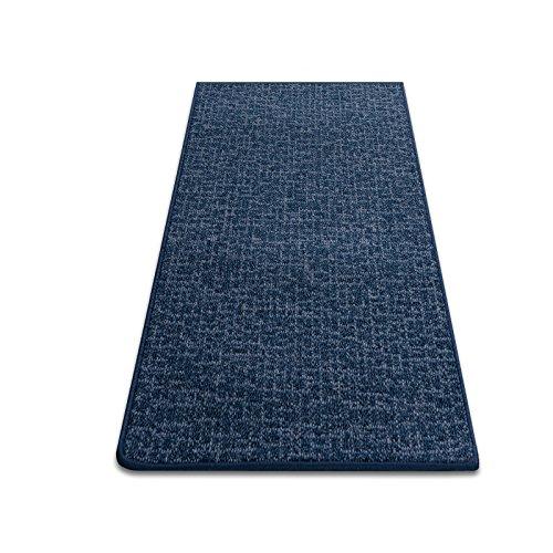 Teppichläufer Teppich Brücke Läufer Bermuda blau Meterware 90 cm breit robust und unempfindlich 90x120 cm