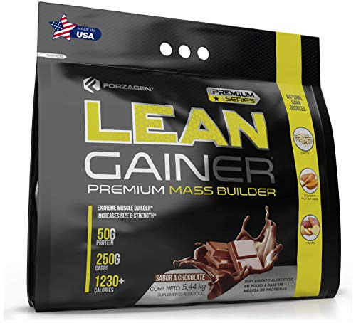 Forzagen Mass Gainer Protein Powder - Weight Gainer with Natural Carb Sources | 12 Lbs | Chocolate Muscle Building Supplements for Men and Women
