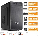 - CeO Alpha V1 - Ordenador de Sombremesa AMD 200GE 3.20GHz 4MB Cache | 8GB Ram DDR4 | 1TB Hard Disk |Tarjeta gráfica Radeon Vega 3 | HDMI/VGA Full HD | USB 3.0 | WINDOWS 10 PRO
