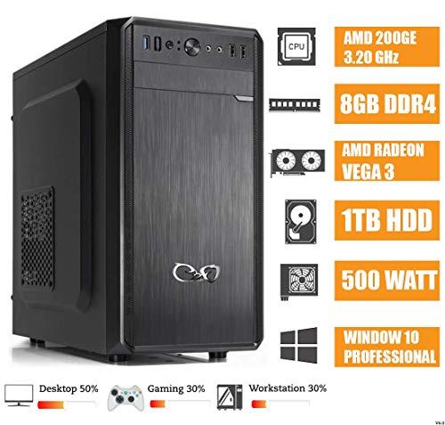 - CeO Alpha V1 - Ordenador de Sombremesa AMD 200GE 3.20GHz