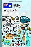 Anguilla Diario de Viaje: Libro de Registro de Viajes Guiado Infantil - Cuaderno de Recuerdos de Actividades en Vacaciones para Escribir, Dibujar, Afirmaciones de Gratitud para Niños y Niñas