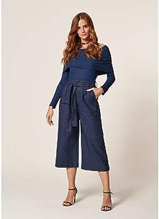 Calça Jeans Ecológico Com Faixa