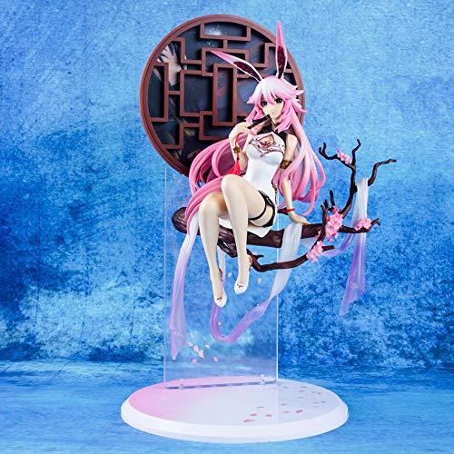 YSKCSRY Versión Premium Benghuai Academy 3 Cheongsam Doble Sakura Sentado Postura Boxed Anime Figura Decoración Estatua Modelo Colección Juguete Altura 33 cm (13.0in)