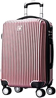 "Swissgear 24"" Luggage Suitcase Hard Shell TSA Locks Rose Gold"