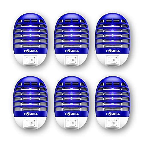 6pcs Bug Zapper  Indoor Fruit Fly Trap  Electronic Insect Trap  Attractant Killer with Blue Light  Silent  Effective Operation UV