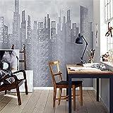 BLZQA 3D Papel tapiz Fotográfico Impresión de la ciudad Mural Salón Dormitorio Despacho Pasillo Decoración murales decoración de paredes moderna 300x200 cm-6 panelen
