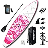 "FW Inflatable 10'6×33""×6"" Ultra-Light (17.6lbs) SUP for All Skill Levels Everything Included"
