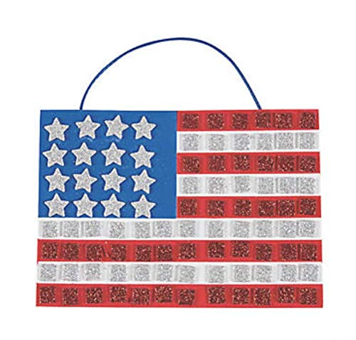 (24) Mosaic Flag Craft Kits ~ Memorial Day And 4th Of July Craft ~