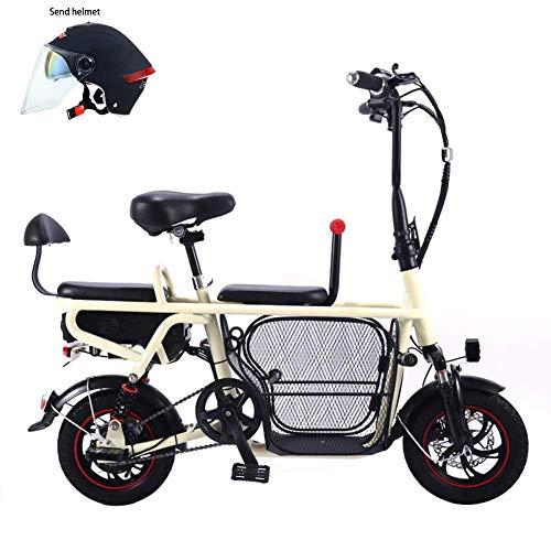 Inicio Equipos Scooter eléctrico bicicleta eléctrica plegable adulto padre-hijo batería de litio coche eléctrico de dos ruedas mini luz portátil mascota 8A / 10A / 13A / 16A duración de la batería