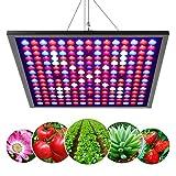 JEVDES - Lámpara LED para plantas de 45 W, 225 ledes de 6 bandas, panel de luz para plantas de interior, espectro completo parasol para crecimiento de plántulas florecientes