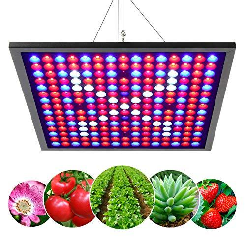 JEVDES 45W LED Pflanzenlichter, 225 LEDs 6-Band Grow Light Panel, Pflanzenlampe für Zimmerpflanzen, Sonnenähnliche Vollspektrum Wachstumslicht, für Sämlinge, die Blühendes Obst Wachsen