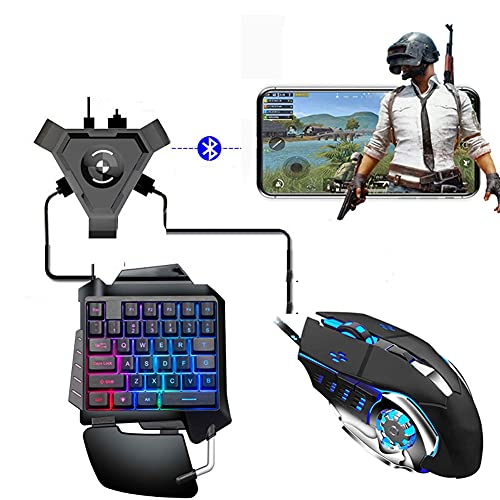 RUIHUA Kit de convertidor de Bluetooth 4.1 Keyboard Mouse, Gamepad Mobile Android PUBG Controller Keyboard Mouse Convertidor de Juegos...