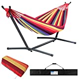 Huacmoet Hammock with Stand, Portable 2 Person Heavy Duty Hammock with Stand