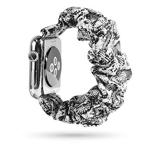 Lecheng Compatible con Apple Watch Band 38 mm 40 mm 42 mm 44 mm,Correa de Repuesto para la Serie iWatch 1/2/3/4/5,Tela Impresa con Hebilla de Metal Inoxidable(38mm D)