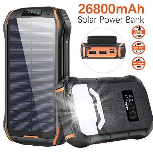 Cargador Solar 26800mAh, Solar Power Bank 15W (5V / 3A) Sali
