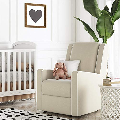 Baby Relax Paisley Rocker Chair, Pocket Coil Seating, Beige Linen Recliner