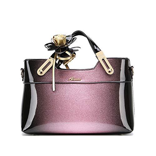 NIYUTA Damenhandtaschen Lackleder Umhängetasche Mode Shopper Reise Designer Freizeit Vintage Henkeltaschen