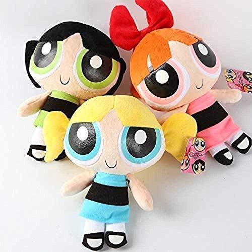 NC56 Plush 3 Pcs 20 cm The Powerpuff Girls Plush Doll Bubbles Flower Stuffed Toys