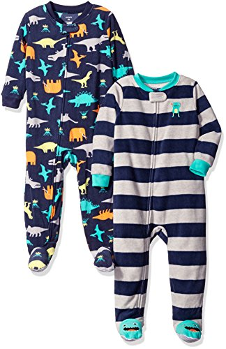 Carter's Baby and Toddler Boys' 2-Pack Fleece Footed Pajamas