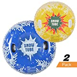 HIWENA Snow Tubes, Inflatable Snow Tubes for Family with 2 Higher...