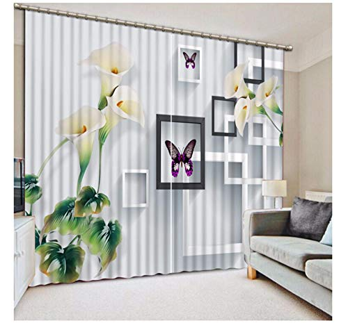 Aymsm Modern Brief Bedroom Curtains For Window square flower Blackout Living Room Curtains Hotel Office Wall Decoration