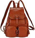 Coolcy Casual Women Real Genuine Leather Backpack...