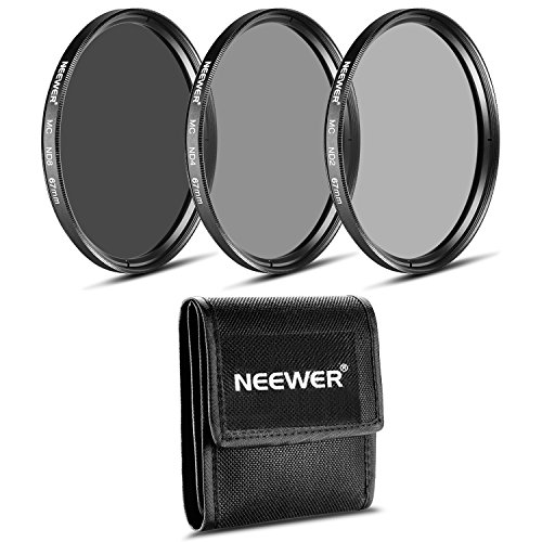 Neewer 67mm Set di Filtri a Densità Neutra per Fotografia (ND2 ND4 ND8) per Obiettivi CANON 18-135mm EF-S IS STM, NIKON 18-105mm f/3,5-5,6 AF-S DX VR ED, PENTAX 18-135mm f/3,5-5,6 ED AL (IF) DC WR