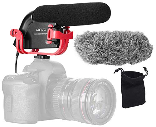 Movo VXR4000R Directional Shotgun Condenser Video Microphone with Shock mount