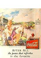 240F 1931年のレトロ広告 コカコーラ Coca-Cola Coke