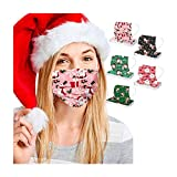 Koippimel Adult Christmas Disposable Face_Mask, Cartoon Cute Printed 3Ply Breathable_Masks with Nose Bridge Strip for Outdoor Dust Protection, Nightmare Before Christmas