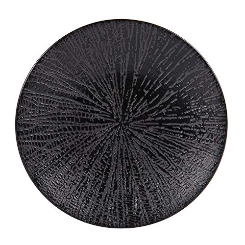 - assiette à dessert santal noir 21 cm (lot de 6)