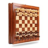Material: The magnetic chess figures are made of solid wood with excellent texture and durability. The inside of the chessboard is magnetic, which can fit into the chessboard well Humanized design: drawer type, personalized chess pieces storage; the ...