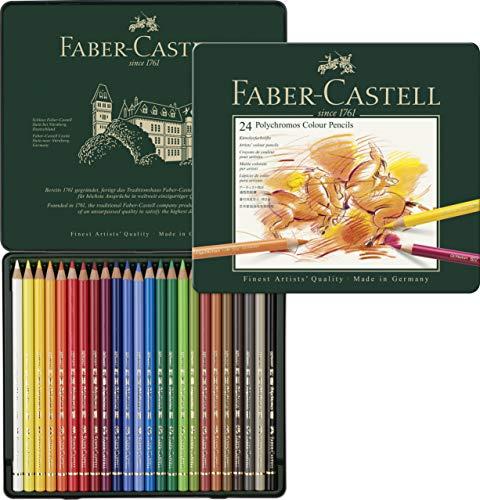 Faber-Castell 110024 - Künstlerfarbstift, 24 Polychromos Metalletui