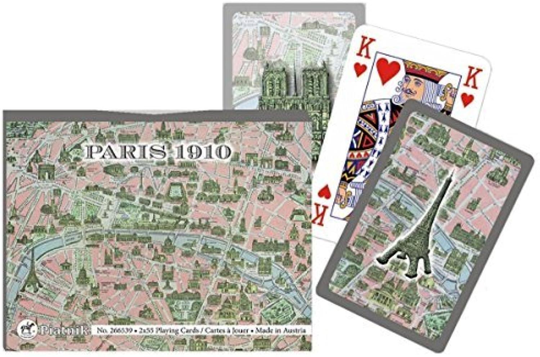 Piatnik Paris 1910 Double Deck Playing Cards (Set of 104 Cards) by Piatnik