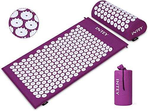 INTEY Kit d'Acupression, Tapis Coussin de Massage pour Yoga, Tapis...