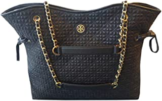 36914 001 Bryant Quilted Slouchy Large Leather Black Handbag