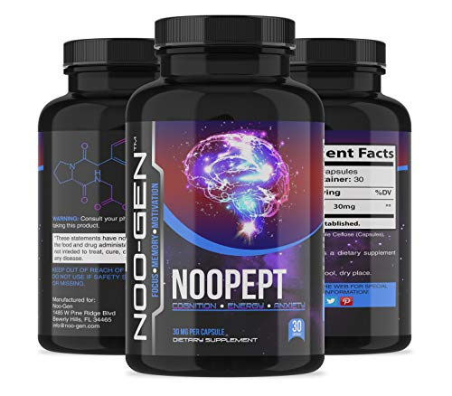 NOOPEPT Supplement, Pharmaceutical Grade, Made in USA (30 Capsules 30mg)