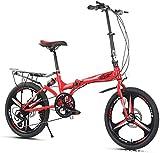 20 en 7 velocidades de ciudad, bicicleta compacta, para adultos