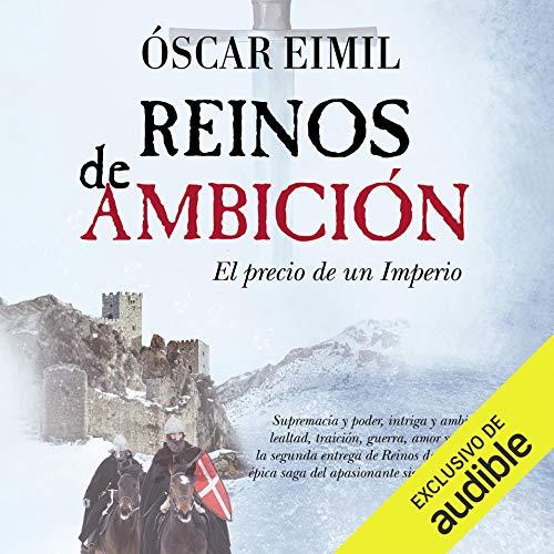 Diseño de la portada del título Reinos de Ambición (Narración en Castellano)
