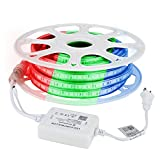 AceLite 98.4FT LED RGB Rope Light, Bluetooth AC 110-120V Flexible Strip, Multi Color Changing SMD 5050 LEDs, ETL Listed, Dimmable, Waterproof, Indoor & Outdoor Lighting Decor with Remote Controller