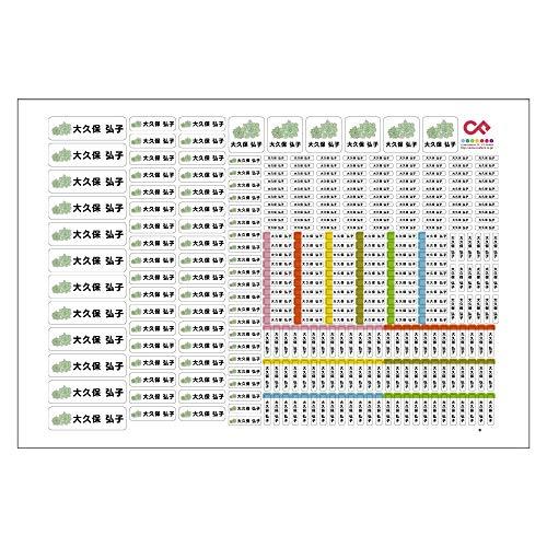 お名前シール 319枚 キャラクターDタイプ Sc148 多肉植物 12001